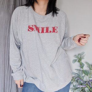 DAYDREAMER SMILE grey sweatshirt NWT cotton 0553